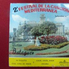 Discos de vinilo: VICTOR BALAGUER - MI PEQUEÑA + 3 TEMAS (EP DE 4 CANCIONES) ALHAMBRA 1960 -. Lote 44706363