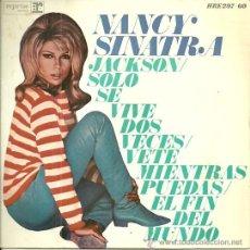Discos de vinilo: NANCY SINATRA EP SELLO HISPAVOX AÑO 1967. Lote 44706778