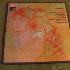 Discos de vinilo: MASSENET, WERTHER, EMI ANGEL SERIES 1969. Lote 44706945