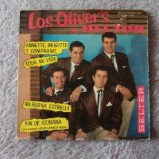 Discos de vinilo: OLIVER'S Y HECTOR, LOS - ANETTE, BRIGITTE Y COMPAGNIE +3 (BELTER 1962) SINGLE EP PROMO- MALLORCA. Lote 44709481