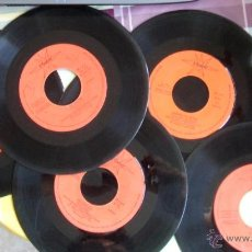 Discos de vinilo: 6 SINGLES DE CUENTOS INFANTILES (PINOCHO, LA RATITA, LA LECHERA, PULGARCITO, CAPERUCITA, CENICIENTA). Lote 44709814