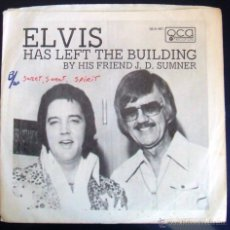 Discos de vinilo: ELVIS HAS LEFT THE BUILDING BY HIS FRIEND J.D. SUMNER [PROMO SINGLE]. Lote 44709933