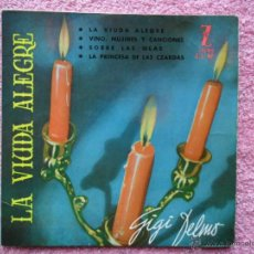 Discos de vinilo: GIGI DELMO 1961 ZAFIRO 87 LA VIUDA ALEGRE DISCO VINILO. Lote 44726225