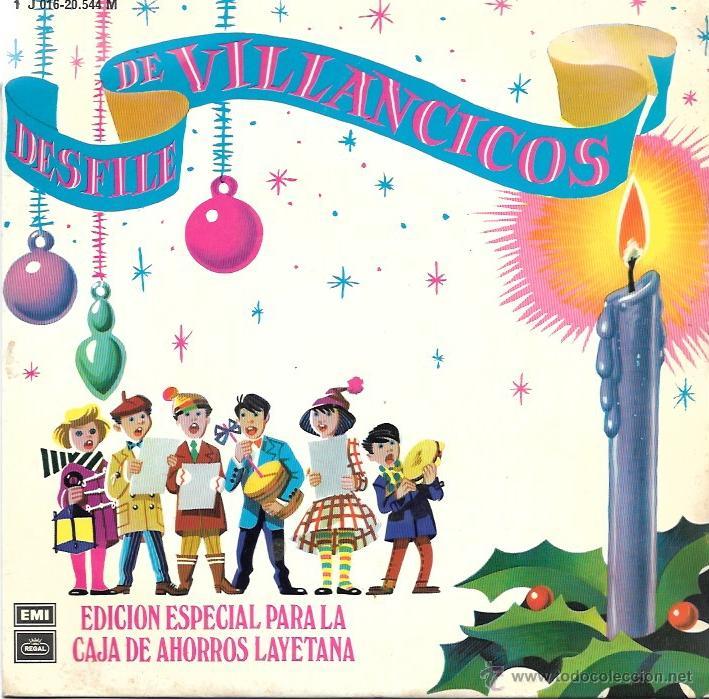 DESFILE DE VILLANCICOS - EDICION ESPECIAL PARA LA CAJA DE AHORROS LAYETANA - EMI ODEON - 1959 (Música - Discos de Vinilo - EPs - Música Infantil)
