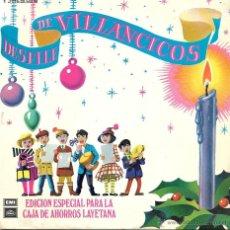 Discos de vinilo: DESFILE DE VILLANCICOS - EDICION ESPECIAL PARA LA CAJA DE AHORROS LAYETANA - EMI ODEON - 1959. Lote 44728761