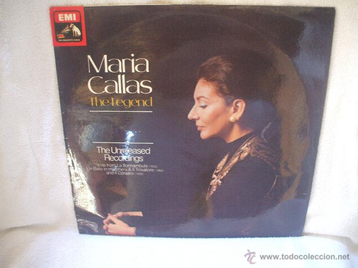 Discos de vinilo: VINILO DE 33 RPM, MARIA CALLAS, THE LEGEND. - Foto 1 - 44730145