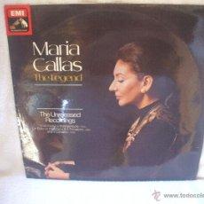 Discos de vinilo: VINILO DE 33 RPM, MARIA CALLAS, THE LEGEND.. Lote 44730145