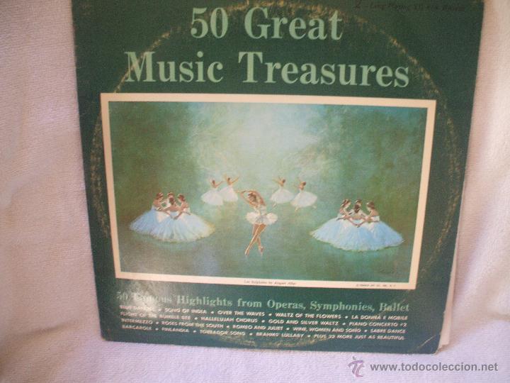 DOBLE VINILO DE 33 RPM, LAS 50 MEJORES OPERAS,SINFONIAS,BALLET. (Música - Discos - Singles Vinilo - Clásica, Ópera, Zarzuela y Marchas)