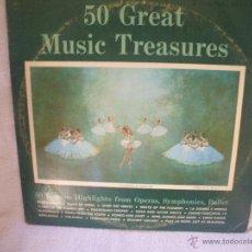 Discos de vinilo: DOBLE VINILO DE 33 RPM, LAS 50 MEJORES OPERAS,SINFONIAS,BALLET.. Lote 44730218