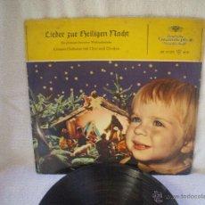 Discos de vinilo: VINILO DE 33 RPM, VILLANCICO, DEUTSCHE GRAMMOPHON CON ILUSTRACION ARTESANAL Y FUNDA COSIDA. . Lote 44730405