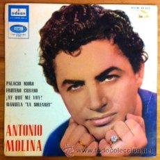 Discos de vinilo: ANTONIO MOLINA - PALACIO MORO, FRUTERO CUBANO... 1964. Lote 200536650