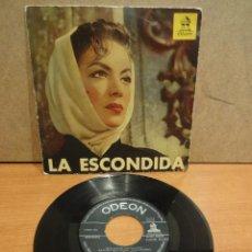 Discos de vinilo: ROSITA QUINTANA. LA ESCONDIDA. EP / ODEON - AÑOS 50. CALIDAD NORMAL. ***/***. Lote 44740061