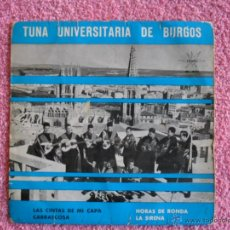 Discos de vinilo: TUNA UNIVERSITARIA DE BURGOS LAS CINTAS DE MI CAPA 1964 MARFER 551 VOL 2 DISCO VINILO. Lote 44741389