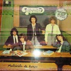 Discos de vinilo: TEQUILA - MATRICULA DE HONOR 1978. CON ENCARTE. Lote 44744078
