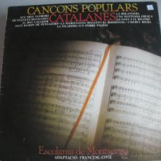 Discos de vinilo: MAGNIFICO LP DE - CANÇONS - POPULARS - CATALANES -. Lote 44745848