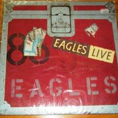 Discos de vinilo: EAGLES - LIVE 1980. CON ENCARTES. Lote 44747530