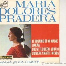Discos de vinilo: MARIA DOLORES PRADERA EP ZAFIRO 1965 . Lote 44748299