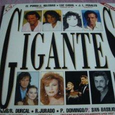 Discos de vinilo: GIGANTES-DOBLE LP CON LOS MEJORES VOCES SOLISTAS ESPAÑOLAS. Lote 44750080