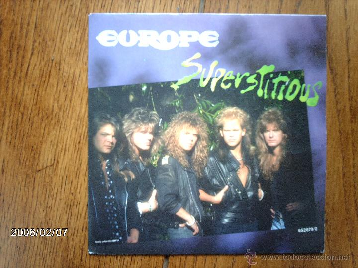 EUROPE - SUPERSTITIOUS + LIGTHS & SHADOWS (Música - Discos - Singles Vinilo - Heavy - Metal)