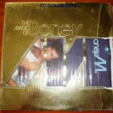 Discos de vinilo: BONEY M. - THE MAGIC OF - 20 GOLDEN HITS. CON ENCARTE. . Lote 44759211