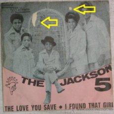 Discos de vinilo: SINGLE THE JACKSON 5 THE LOVE YOU SAVE VINILO G- /CARPETA G- PROBADO ED. ESPAÑOLA. Lote 44761462