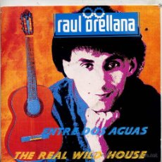 Discos de vinilo: RAUL ORELLANA / ENTRE DOS AGUAS / THE REAL WILD HOUSE (SINGLE 1989). Lote 44762101