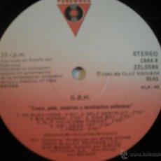 Discos de vinilo: MAGNIFICO LP DE - G - B - H - NO TIENE FUNDA -. Lote 44775872