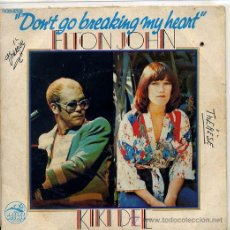 Discos de vinilo: ELTON JOHN & KIKI DEE (SOLO CARATULA) EDICION FRANCESA. Lote 44790629