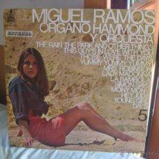 Discos de vinilo - MIGUEL RAMOS ORGANO HAMMOND VOL 5 LP HISPAVOX 1968 versiones de beatles - 44792876