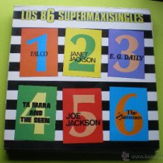 Discos de vinilo: LOS 86 SUPERMAXISINGLES FALCO ZUMMOS JANET JACKSON MARA AND SEEN JOE DAILY LP 86 CON ENCARTES PEPETO. Lote 137548956