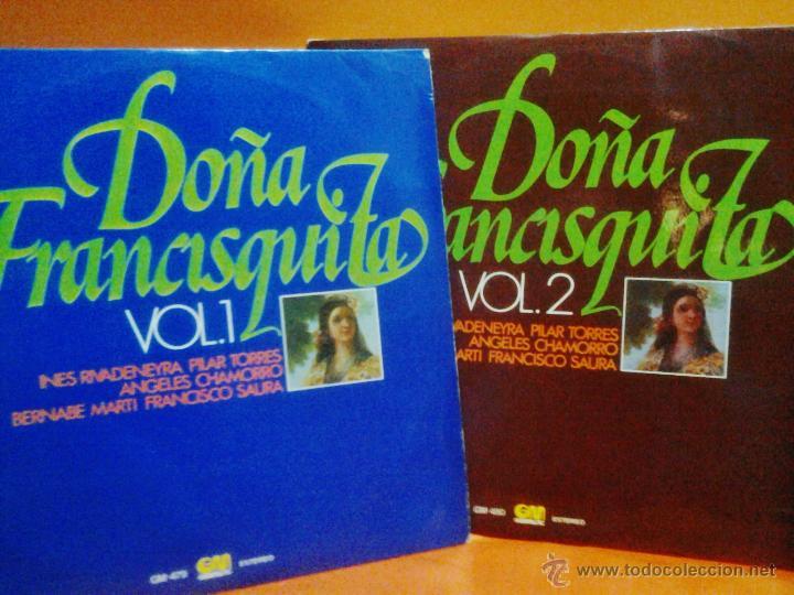 DOÑA FRANCISQUITA - VOL 1 Y 2 MÚSICA DE AMADEO VIVES - ED. GRAMUSIC - AÑO 1976 - AT (Música - Discos - LP Vinilo - Clásica, Ópera, Zarzuela y Marchas)