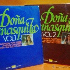 Discos de vinilo: DOÑA FRANCISQUITA - VOL 1 Y 2 MÚSICA DE AMADEO VIVES - ED. GRAMUSIC - AÑO 1976 - AT . Lote 44801248