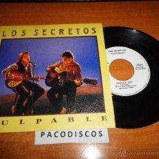 Discos de vinilo: LOS SECRETOS CULPABLE / NO SERE YO SINGLE DE VINILO 1990 ALVARO Y ENRIQUE URQUIJO 2 TEMAS. Lote 44807050