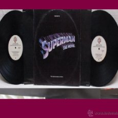 Discos de vinilo: SUPERMAN THE MOVIE 2 LP BANDA SONORA ORIGINAL MUSICA JOHN WILLIAMS 1978 WB USA CON ENCARTES. Lote 44808941