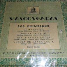Discos de vinilo: LOS CHIMBEROS, GUILLERCHU / ARRIBA LA SALSA/ IDA Y VUELTA A SANTA LUCIA, EP 50'S. Lote 44810725