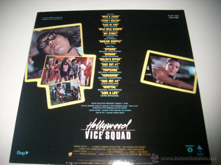 Discos de vinilo: HOLLYWOOD VICE SQUAD (1986 ENIGMA ESPAÑA) CHRIS SPEDDING BOB & EARL MOON MARTIN - Foto 2 - 44815614