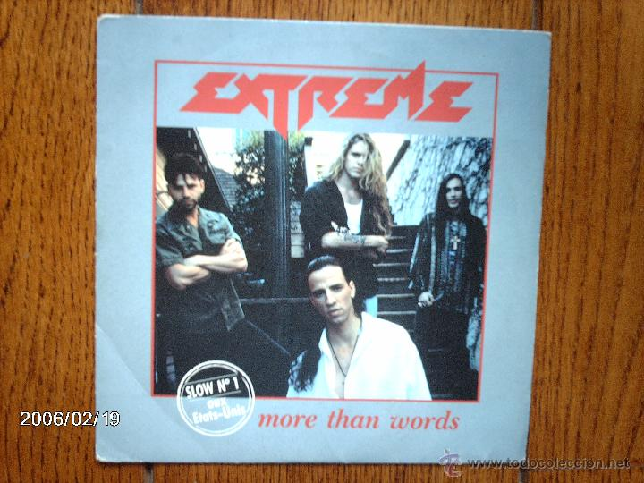 EXTREME - MORE THAN WORDS ( REMIX ) + NICE PLACE TO VISIT (Música - Discos - Singles Vinilo - Heavy - Metal)