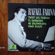 Discos de vinilo: RAFAEL FARINA - TWIST DEL FARAON + 3. Lote 44821537