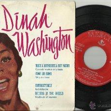 Discos de vinilo: DINAH WASHINGTON EP WHAT A DIFFERENCE A DAY MAKES+3 ESPAÑA 1959.RAREZA. Lote 44826061