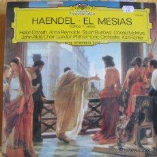 Discos de vinilo: LP - HAENDEL - EL MESIAS (COROS Y ARIAS) (ORQUESTA FILARMONICA DE LONDRES, DR. KARL RICHTER). Lote 44829802