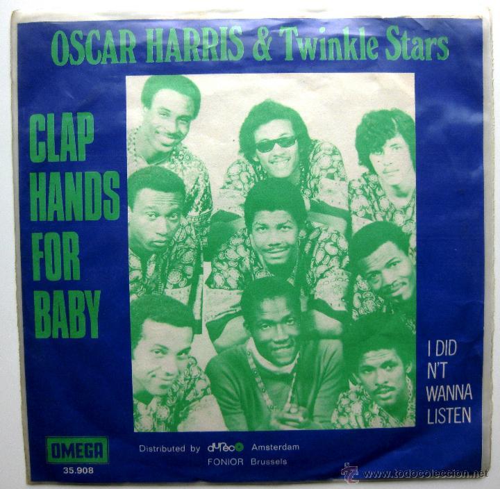 OSCAR HARRIS AND THE TWINKLE STARS - CLAP HANDS FOR BABY - SINGLE OMEGA 1970 HOLANDA BPY (Música - Discos - Singles Vinilo - Funk, Soul y Black Music)