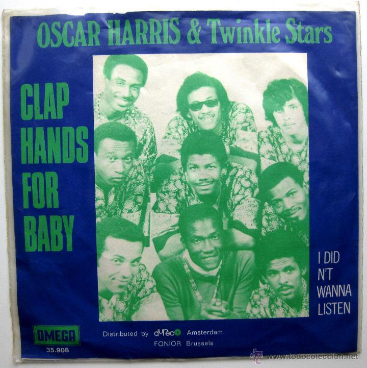 Discos de vinilo: Oscar Harris And The Twinkle Stars - Clap Hands For Baby - Single Omega 1970 Holanda BPY - Foto 2 - 44834795