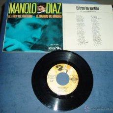 Discos de vinilo: MANOLO DIAZ SINGLE EL BARRIO DE DINDÁS FOLK PROTESTA SPAIN. Lote 44840799