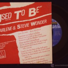 Discos de vinilo: STEVIE WONDER & CHARLENE, USED TO BE (RCA 1982) SINGLE PROMOCIONAL ESPAÑA. Lote 44841657
