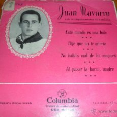Discos de vinilo: JUAN NAVARRO CON RONDALLA, NAVARRA, EP 50'S. Lote 44857636
