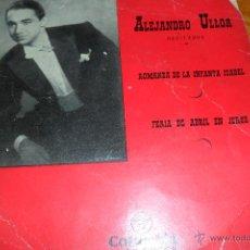 Discos de vinilo: ALEJANDRO ULLOA, RECITADOS , EP 50'S. Lote 44857658