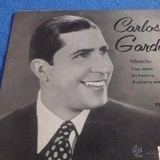 Discos de vinilo: CARLOS GARDEL- SILENCIO. Lote 44867195
