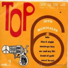 Discos de vinilo: TOP 6 - VOL 2 (EP 6 TEMAS 1970) . Lote 44870392