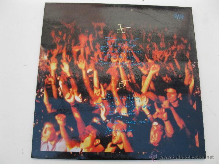 Discos de vinilo: LP - SANGTRAÏT - AL PALAU SANT JORDI - PICAP - AÑO 1992. - Foto 4 - 44884595