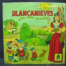Discos de vinilo: CUENTO BLANCANIEVES Y LOS SIETE ENANITOS - VINILO ROJO ODEON . Lote 44886523
